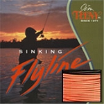T-Series T-300 Fly Line, 7-10 Rod Size, Approx. 6.5 IPS, Orange